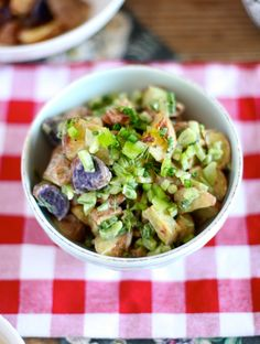 Light & Healthy Roasted Potato Salad