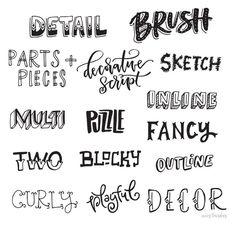 Resultado de imagen para types of letters styles