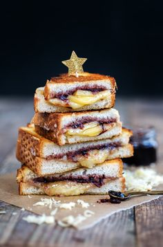 Take a break from the turkey to enjoy a Comté grilled cheese sandwich with cranberry relish