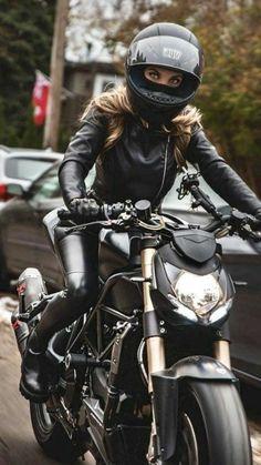 (notitle) Girls & Bikes Biker Chicks GirlsBikes notitle s . - I Love Motorrad Female Motorcycle Riders, Motorbike Girl, Motorcycle Bike, Motorcycle Outfit, Girl Bike, Women Motorcycle, Lady Biker, Biker Girl, Biker Chick Outfit