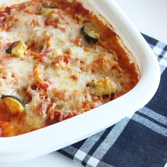 "Recipe For Gluten-Free Cheesy Veggie ""Pasta"" Bake 