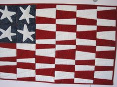 Dice and Splice Patriotic Flag Quilt PDF by bunchberrystudio