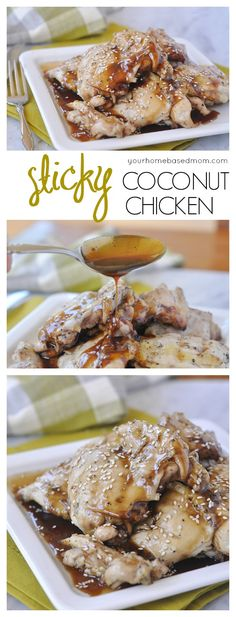 Sticky Coconut Chicken - have it for dinner tonight!