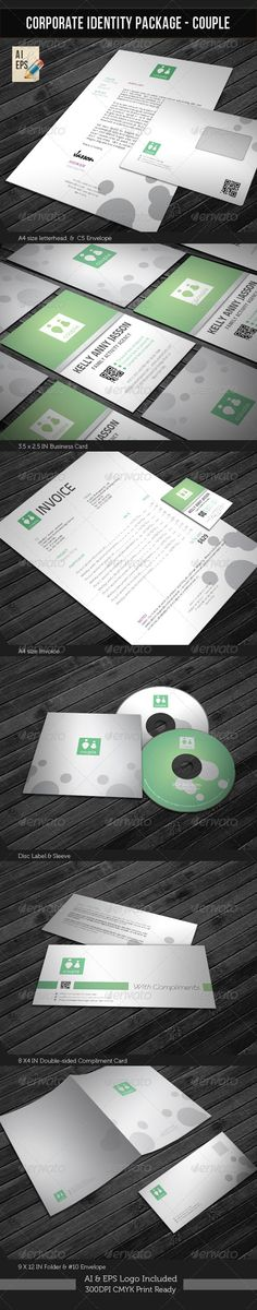 Corporate Identity Package - Couple #GraphicRiver Corporate Identity Package – 'Wedding Planner' contains: 1. Letterhead : A4 size 2. Invoice : A4 size 3. Business Card : 3.5X2.5 in 4. C5 Envelope 5. #10 Envelope 6. Disk Label 7. Disk Sleeve 8. Compliments: 8X4 in 9. Presentation Folder: 9×12in [ Featured Items] [Wedding Invitation/ Greeting Card] Wedding Invitation Package Corporate/Anniversary Invitation Template Baby Shower/Announcement CARD Template Night Club Flyer Corporate Identity…