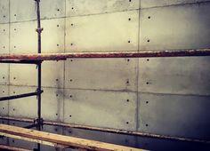 Concrete off-shutter panels in progress..   projects@floatdesign.co.za