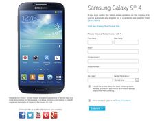 """Here is the chances to win Samsung Galaxy S4 mobile device and 55"""" Samsung Smart TV."""