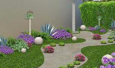 Techno, Courtyard Landscaping, Landscaping Ideas, Simple House Plans, Backyard Seating, Starting A Garden, Garden Borders, Outdoor Living, Outdoor Decor