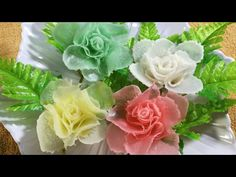 Vegetable Art In Rose -  Radish  Design In to flower & Ornament - YouTube
