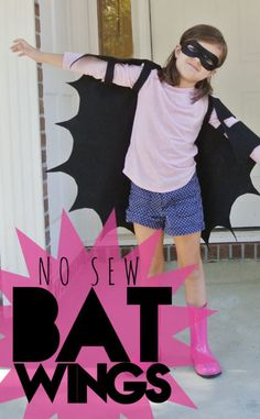 Super Simple Bat Wings for Halloween