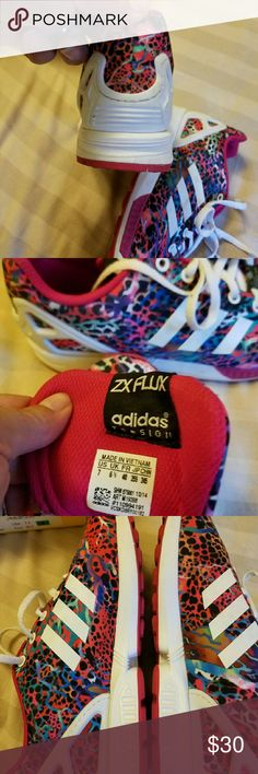 Adidas ZX Flux Just bought these off another posher, about 1/2 size to big.  Just want to get what I paid back to purchase something else. These are multi colored,  I love then just to big. Adidas Shoes Sneakers