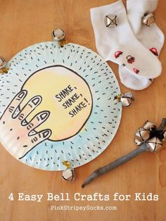 Make music with this DIY paper plate tambourine!