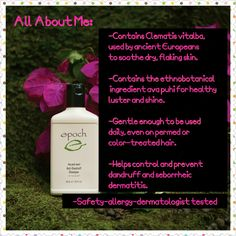 Nu Skin's Epoch Anti-Dandruff Shampoo: Email me for more info! kgrego.nuskin@gmail.com