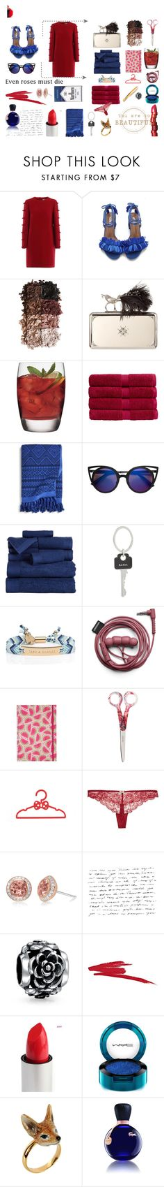 """RED"" by denisse-ponce ❤ liked on Polyvore featuring LORAC, Alexander McQueen, Luigi Bormioli, NARS Cosmetics, Christy, Vera Bradley, Paul Smith, Kate Spade, Heidi Klum Intimates and Frederic Sage"