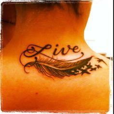 Neck tattoo. Live Free
