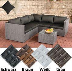 Poly Rattan Lounge Set LIBERI Aluminium Gestell 3er Sofa 2er Tisch 55 X Cm 9 Polster Kissen Jetzt Bestellen Unter