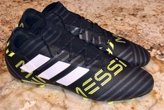 purchase cheap 86cb4 38922 eBay Sponsored ADIDAS Messi 17.2 FG Soccer Cleats Boots BLACK White Yellow  Grey NEW Mens