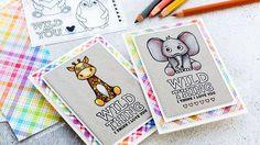 Pencil Coloring On Kraft + Simon Says Stamp Card Kit