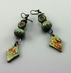 Rustic Earrings Rustic Hippie Earrings Hippie Earrings Teal