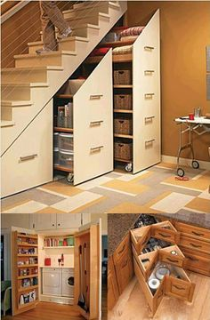 Another great idea under stairs!  Space Saving Designs!