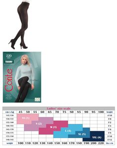 Conte Shaping Tights Pantyhose Sentive Skin Extra Strong Color Black Size Xxl-6 Pantyhose & Tights