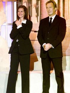 Alan Rickman and Julia Roberts at 'Hollywood Salutes Bruce Willis: An American Cinematheque Tribute' at the Beverly Hilton Hotel, Beverly Hills, 2000
