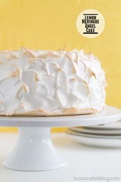 Lemon Meringue Angel Cake on Taste and Tell