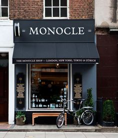 The design of this shopfront is simple and uncluttered. Which suits the name of the place which is Monacle. Having a simple and uncluttered shopfront gives off a sophisticated look.