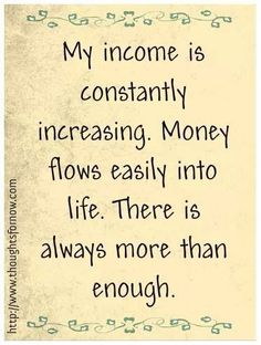 This is so true in my life!!!!! Abundance