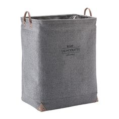 Discover the Aquanova Lubin Laundry Bin - Silver Grey at Amara