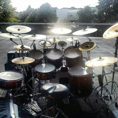 Sonor drums with sabian cymbals
