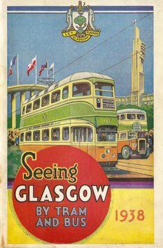 Glasgow en tranvía y autobús 1938