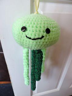 Lime Green Crochet Jellyfish £8.50
