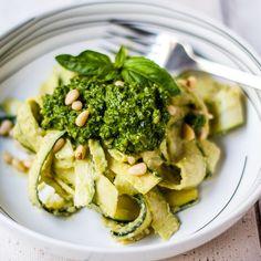 Kale, Basil & Spinach Pesto with Creamy Zucchini Pasta Recipe on Food52 recipe on Food52