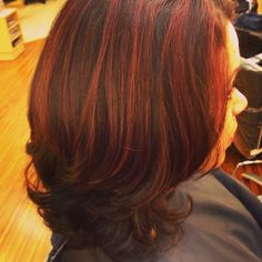 Highlights done with Matrix Light Master and toned with 6RB in Matrix SoColor