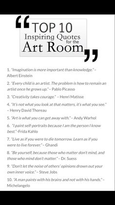 Art Room Quotes: