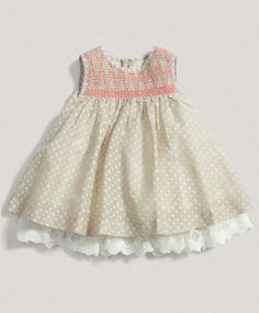 Girls Welcome to the World Smock Dress
