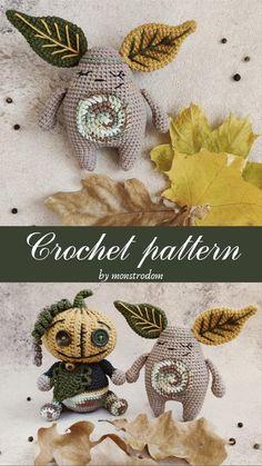 Halloween Crochet Patterns, Crochet Animal Patterns, Amigurumi Patterns, Hat Patterns, Crochet Panda, Kawaii Crochet, Crochet Dolls, Crochet Quilt, Crochet Yarn