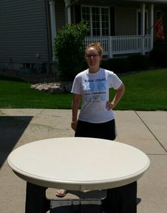 Painting our small kitchen table