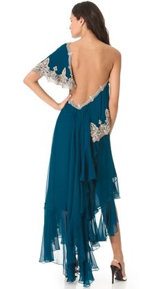 Marchesa One Shoulder Gown