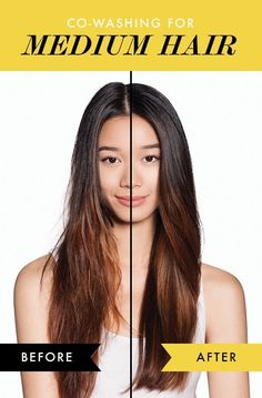 Check out the before and afters of co washing medium hair! It's the no poo answer to ALL of your hair prayers. Medium Hair Cuts, Medium Hair Styles, Natural Hair Styles, Long Hair Styles, Bouncy Hair, Platinum Blonde Hair, Great Hairstyles, Tips Belleza, Looks Style