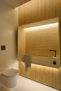Modern Bathroom Have a nice week everyone! Today we bring you the topic: a modern bathroom. Do you know how to achieve the perfect bathroom decor? Minimalist Bathroom, Modern Bathroom, Small Bathroom, Bathroom Ideas, Warm Bathroom, Master Bathroom, Toilet Design, Bath Design, Bad Inspiration