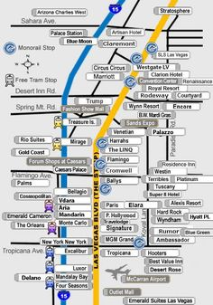 1000 Ideas About Las Vegas Strip Map On Pinterest  Las