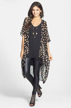 Free shipping and returns on Potter's Pot Print Kimono Jacket (Juniors) at Nordstrom.com. Oblong spots scatter across a long, sheer kimono jacket that finishes with a rounded high/low hem.