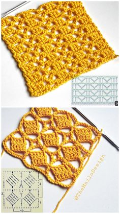 crochet lattice lapghan free easy crochet pattern in suoer saver yarn alternate between single crochet rows and more challenging rows using crossed treble and double treble crochet stitches to create the pretty lattice pattern on this crochet lapghan Easy Crochet Stitches, Crochet Simple, Crochet Square Patterns, Crochet Blocks, Crochet Diagram, Crochet Chart, Crochet Squares, Crochet Blanket Patterns, Crochet Designs