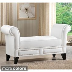 Shop for Baxton Studio Marsha Modern Scroll Arm Bench and more for everyday discount prices at Overstock.com - Your Online Furniture Store!