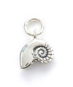 Look what I found on #zulily! Sterling Silver Nautilus Shell Charm #zulilyfinds