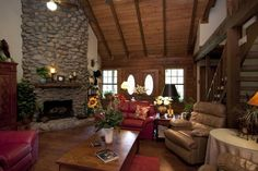 the ambiance of a log home