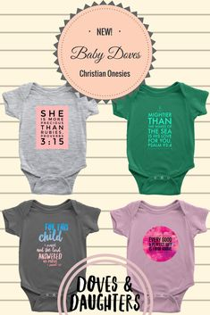 Outfitting all our little bundles of awesome! Doves & Daughters is stoked to have launched our Baby Doves collection of faith based onesies! Let's be honest, isn't the best part of a baby shower invitation getting to do the gift shopping?! Make sure to share with any new mommas in your life!