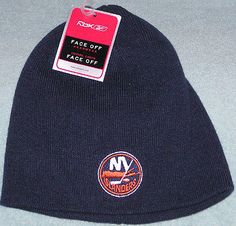 New York Islanders Reebok Face Off Adult Stocking Cap Hat New with Tags Navy | eBay
