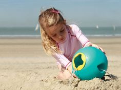 Heading to the beach?  Bring along these innovative, well-made pails and shovels that will keep the kids busy all day long.